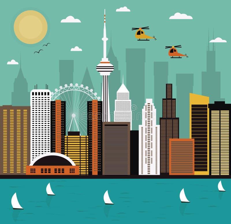Modern city life. stock illustration