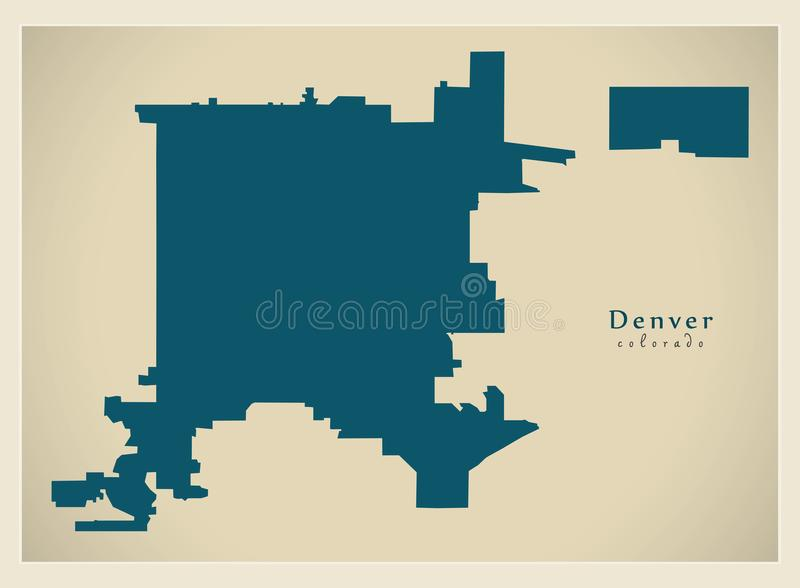 download modern city map denver colorado city of the usa stock vector illustration of