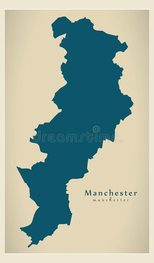 download modern city map manchester city of england uk stock vector illustration of simple