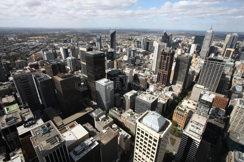 Modern city - Melbourne stock image