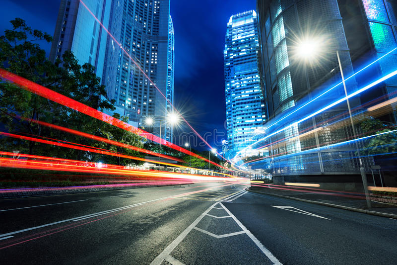 Download Modern city at night stock photo. Image of cityscape - 32899842
