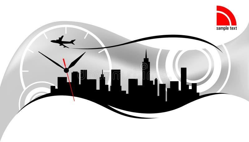 Modern city skyline design. With business travel theme stock illustration