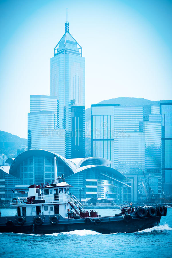 Modern cityscape in hongkong stock photography