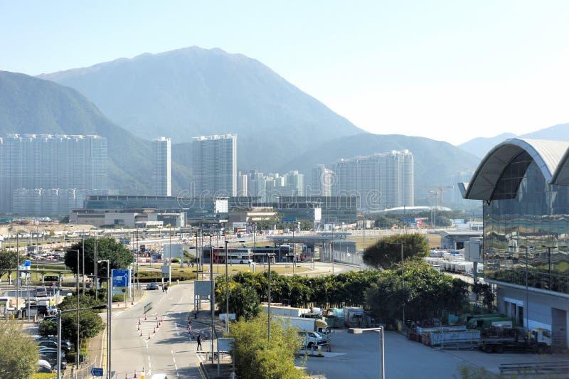 modern cityscape Livet av en storstad arkivbild