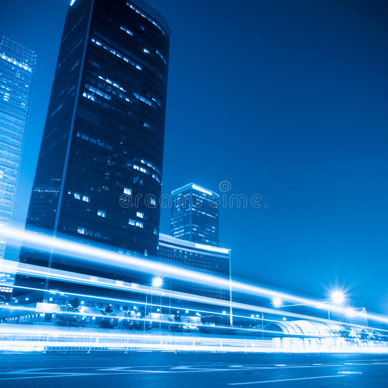 Modern cityscape at night in beijing stock photos