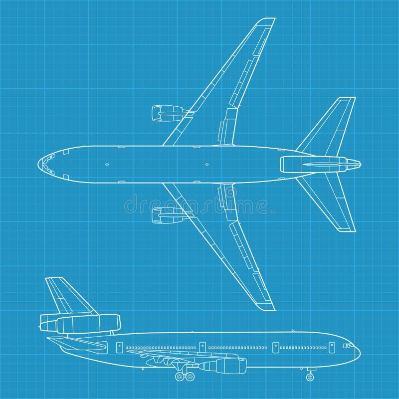 Modern civil airplane royalty free illustration