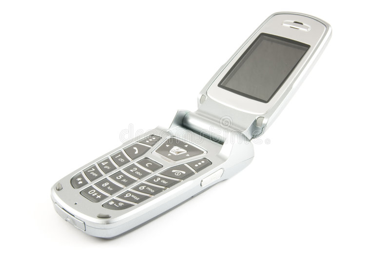 Modern clamshell phone stock photos