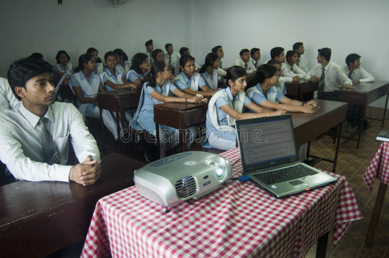 Download Modern Classroom editorial stock image. Image of information - 26320654