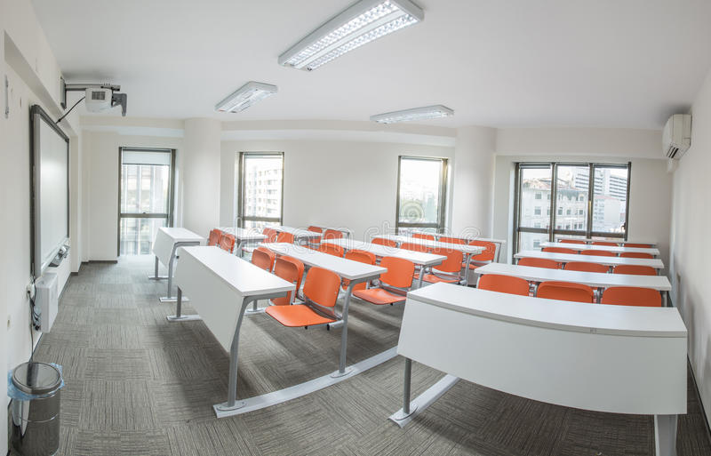 Classroom Blackboard Design ~ Modern classroom stock image of blackboard