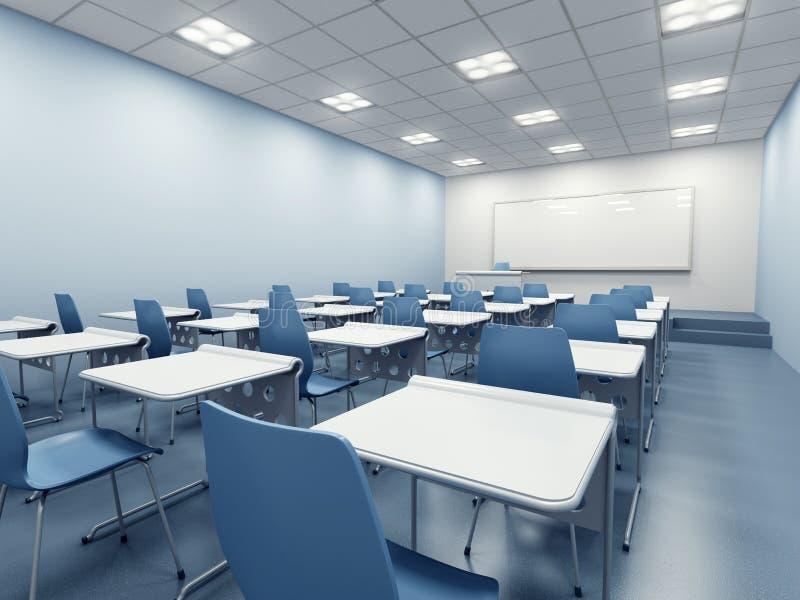 Modern classroom interior vector illustration