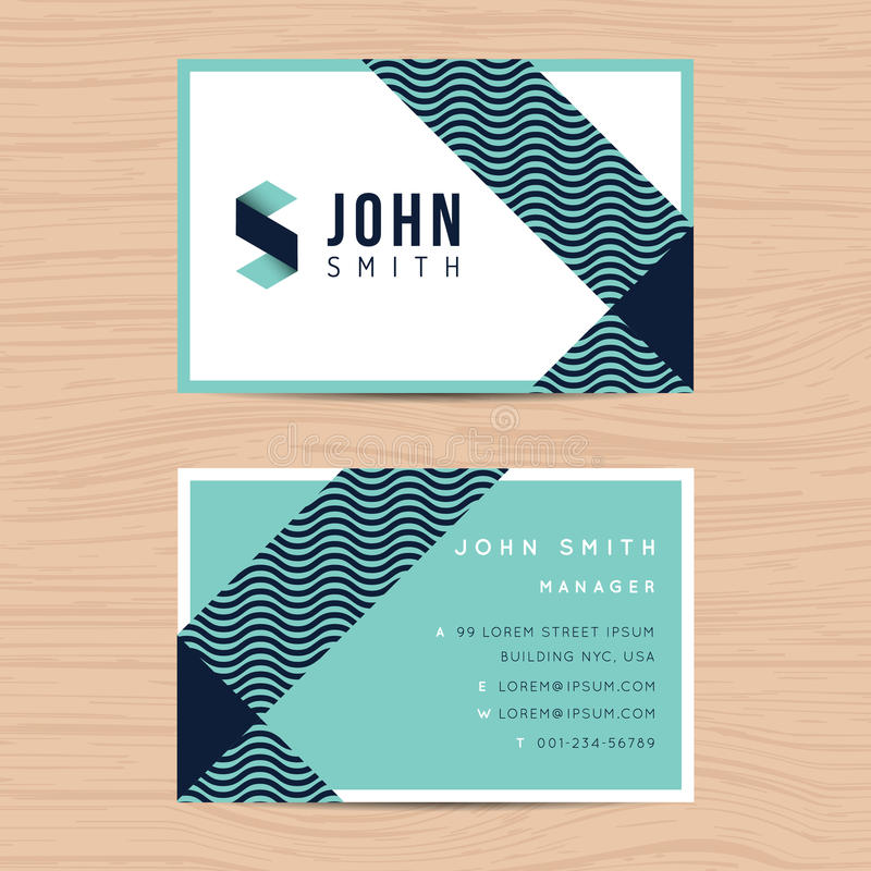 Modern and clean design business card template in abstract background. Printing design template. Modern and clean design business card template in abstract stock illustration