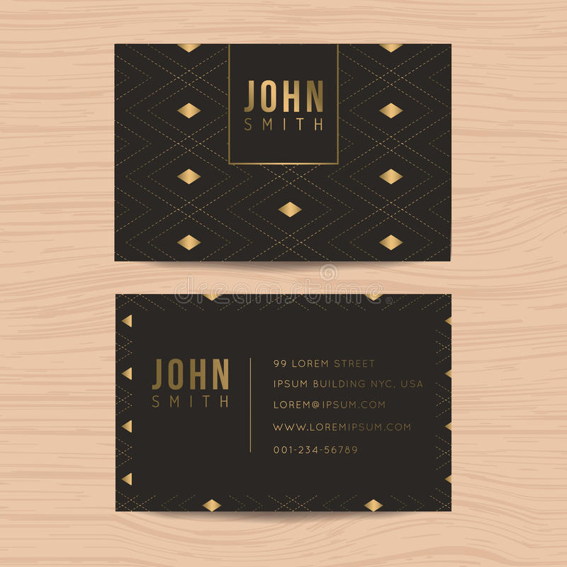 Modern and clean design business card template in golden abstract background for business. Corporate design. vector illustration