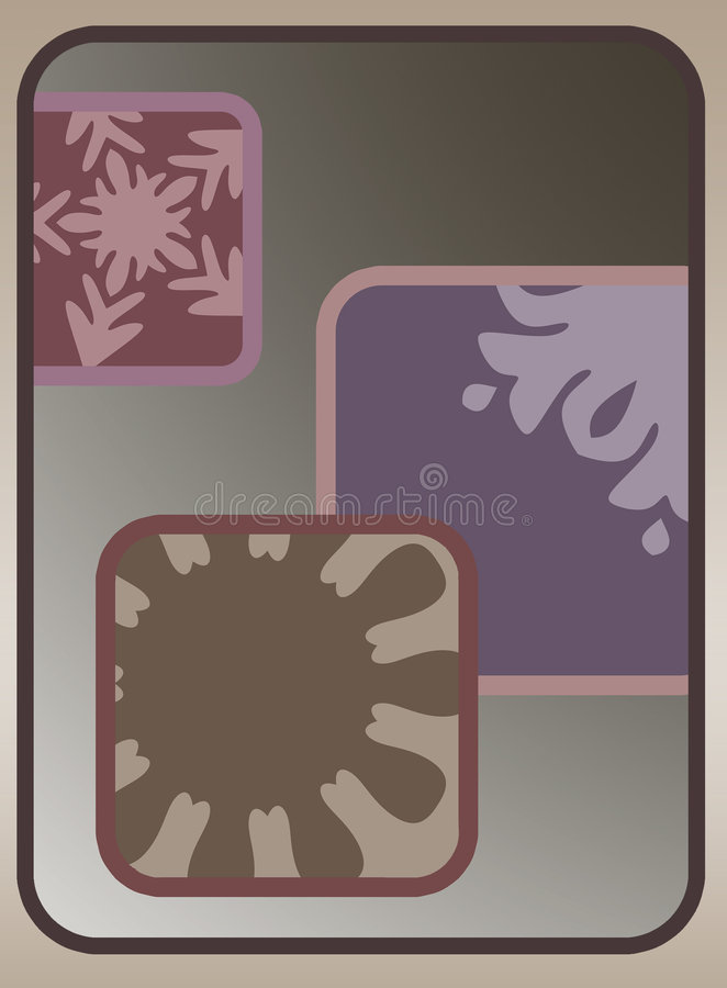 Modern Clipper Art. A modern art illustration of floral pastel cube icons stock illustration