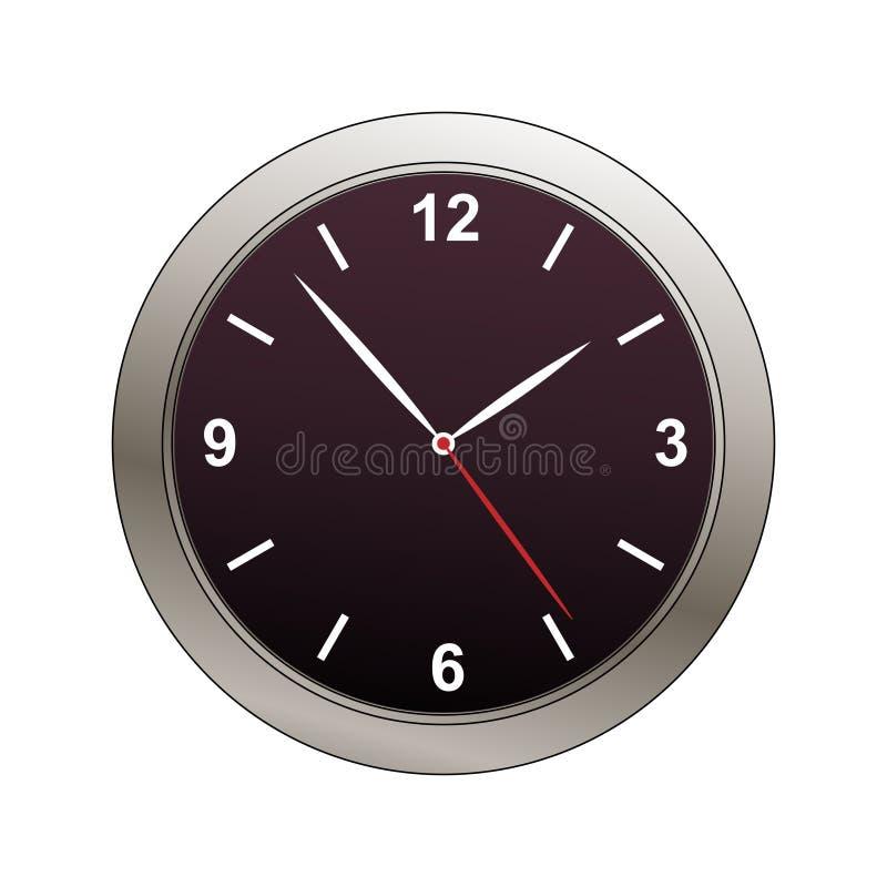 Modern clock face illustration vector illustration