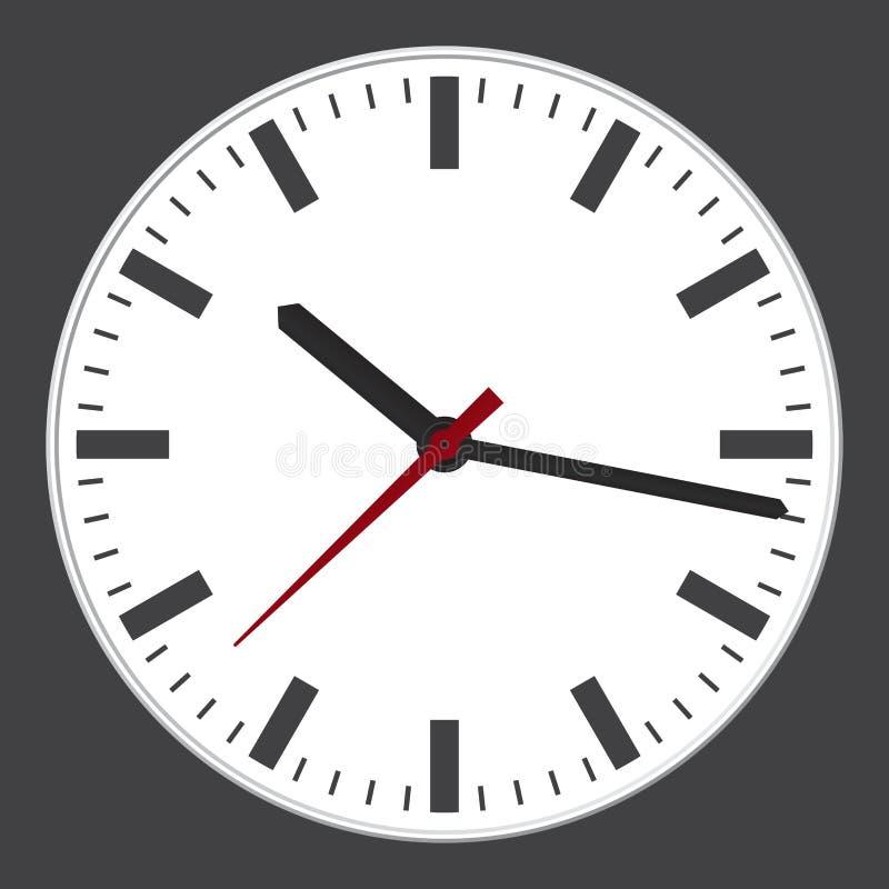 Modern clock stock illustration