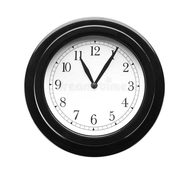 Modern clock on white background. Time management royalty free stock images