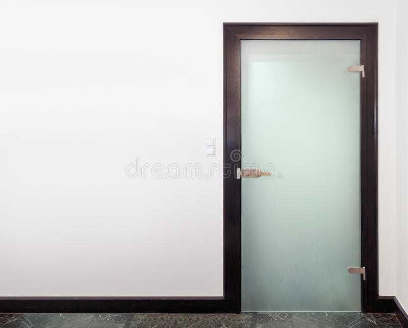 Download Modern closed glass  door stock image. Image of glass - 25278731