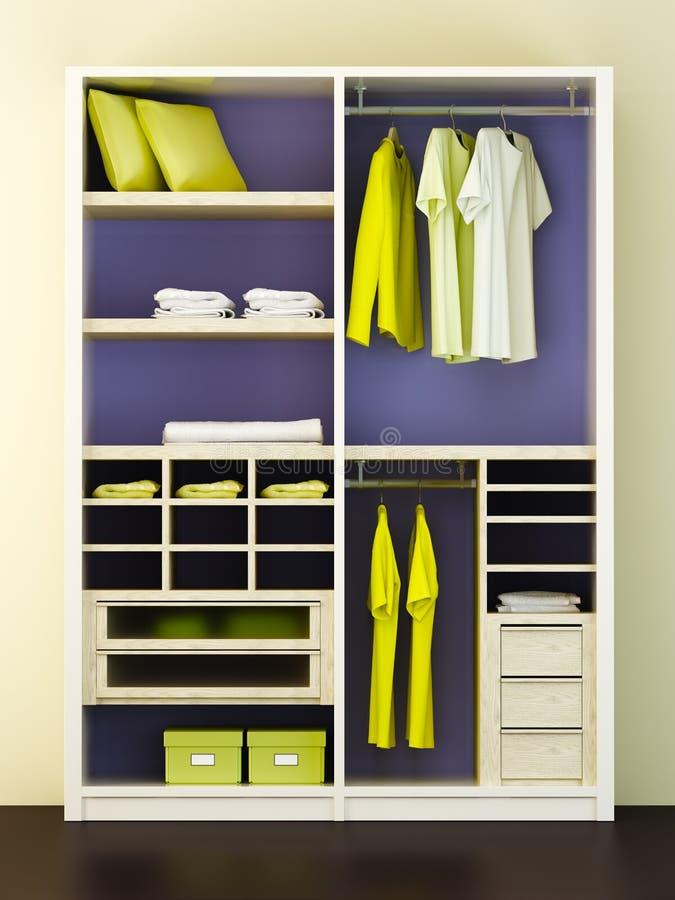 Download Modern closet 3d rendering stock illustration. Image of hanging - 17761133