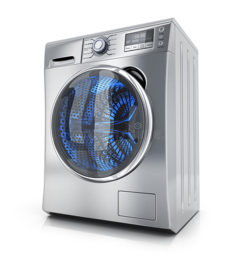 Modern clothes washer. On white background. 3d illustration vector illustration