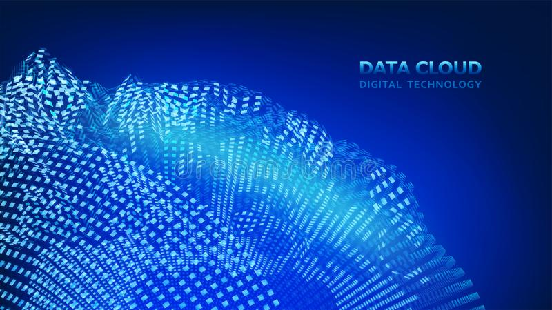 Modern cloud technology. Data Cloud. Digital technology. Integrated digital web concept background, Vector. EPS10. Modern cloud technology. Data Cloud. Digital vector illustration