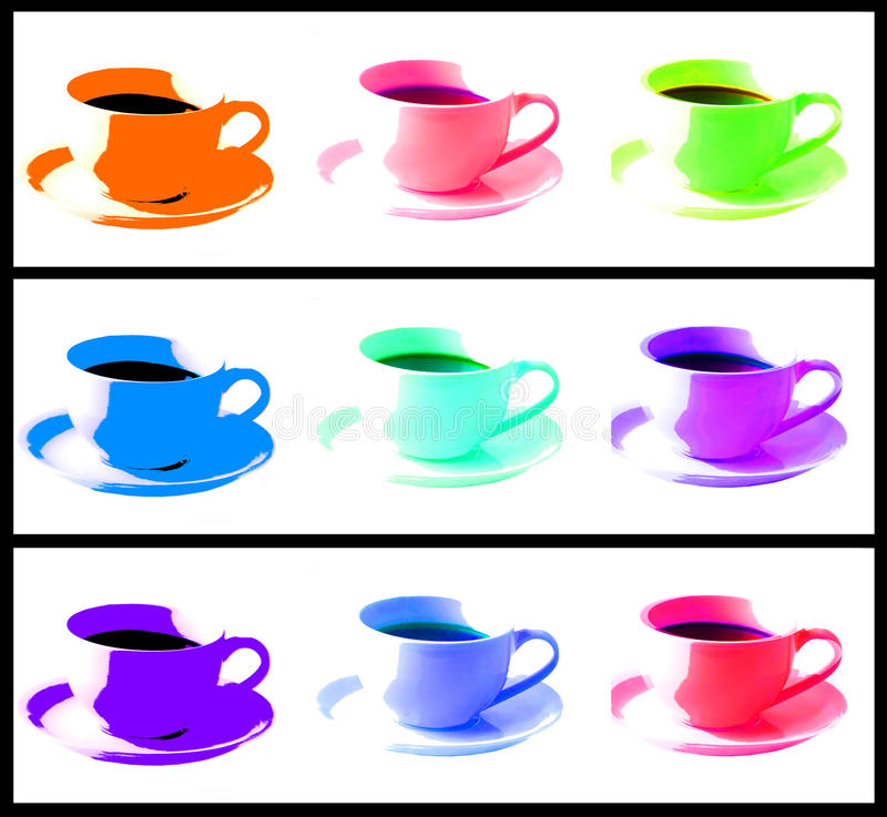 Free Modern Coffee Illustrations Stock Images - 9897794