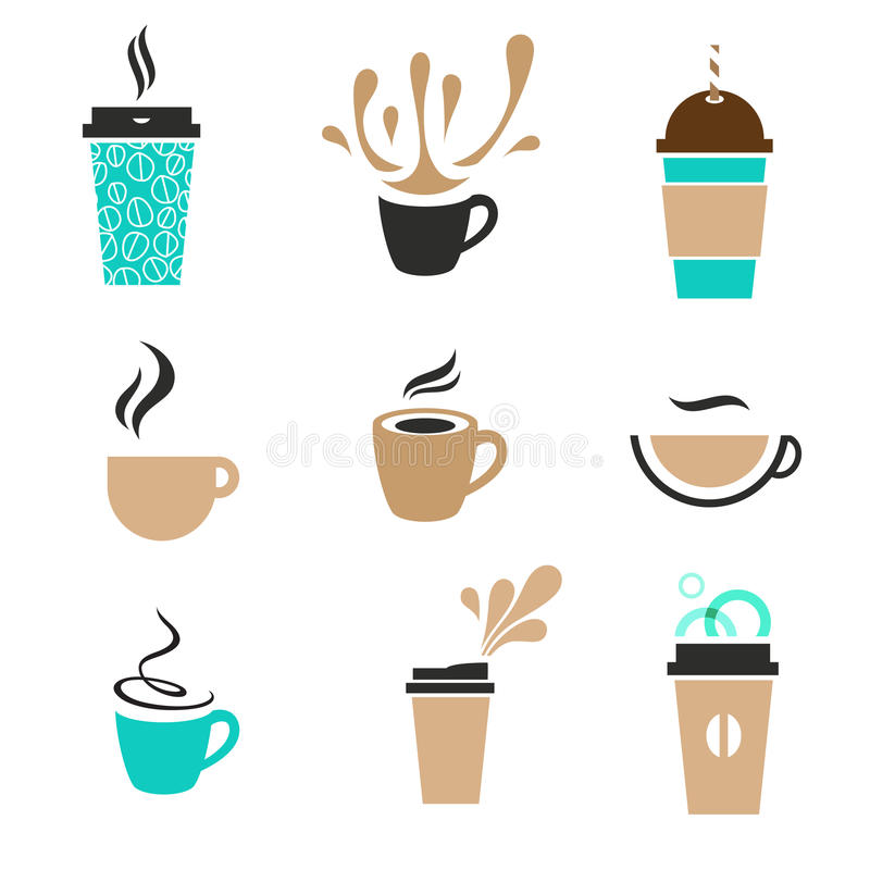 modern coffee set royalty free stock photography