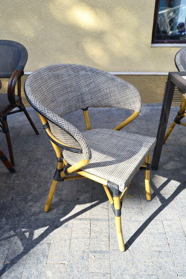 Modern coffee shop soft chair royalty free stock photo