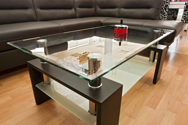 Modern coffee table royalty free stock photography