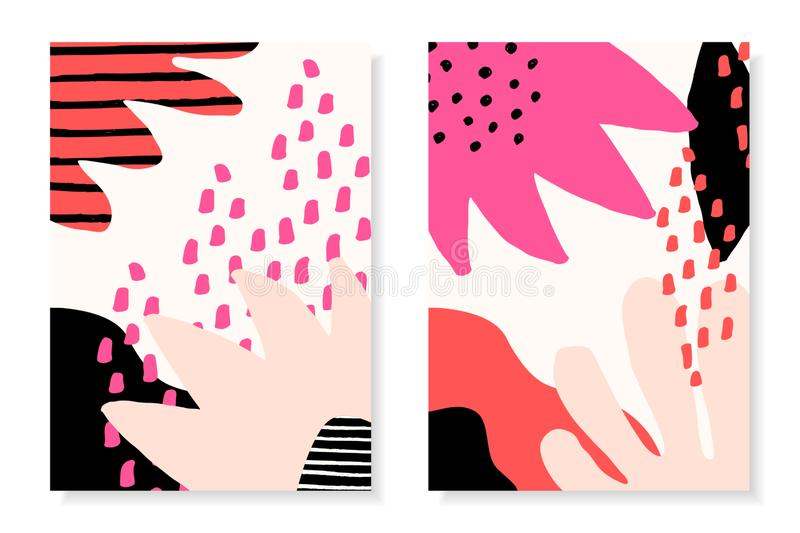 Modern Abstract Collage Design Templates stock illustration