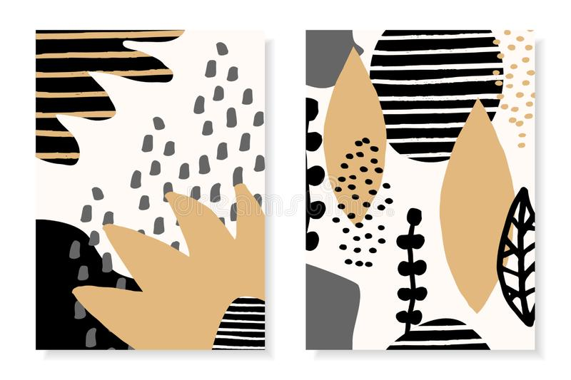 Modern Abstract Collage Design Templates royalty free illustration
