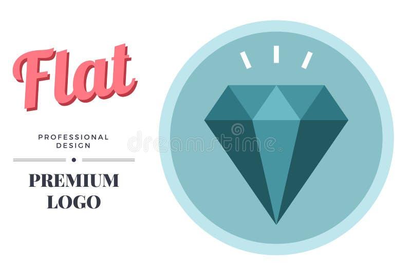 Modern color diamond icon design. Vector round sign template vector illustration
