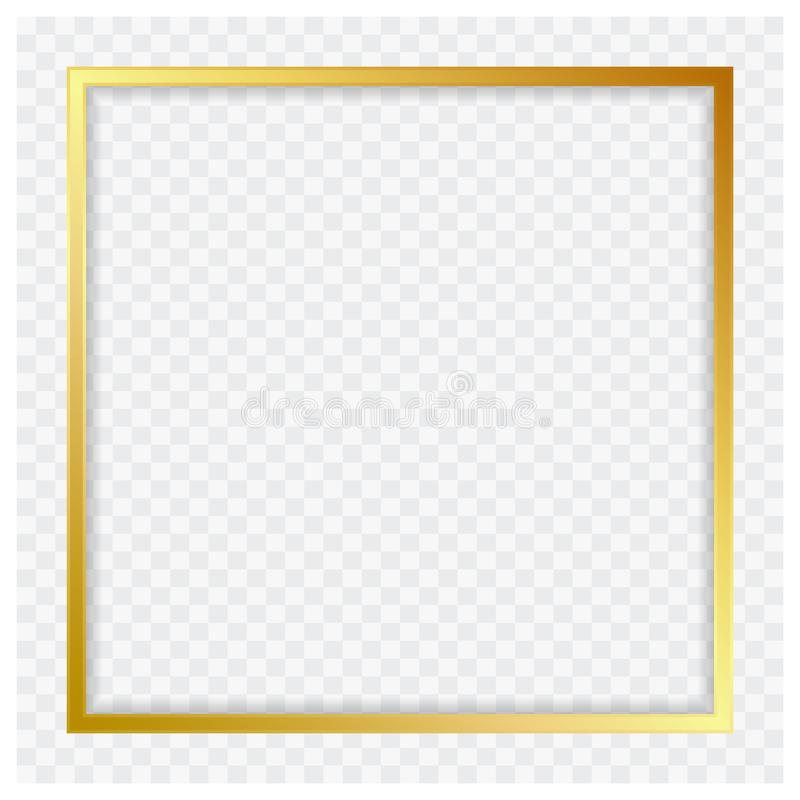 Modern color_gold glanzend kader van de banner vector abstract vierkant illustrator royalty-vrije illustratie