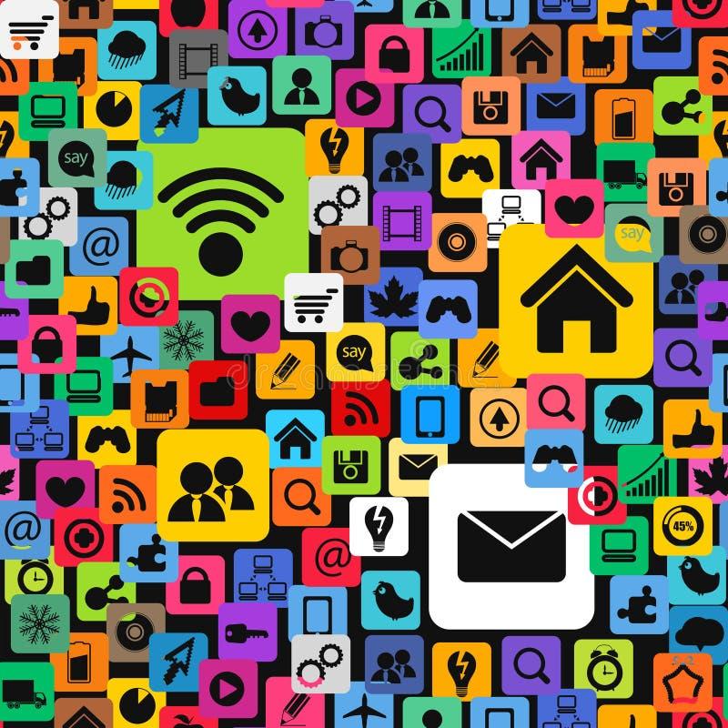 Modern Color Social Media Icons Royalty Free Stock Photos