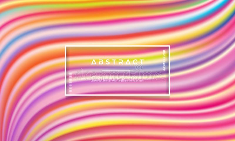 Modern colorful abstract background is suitable for digital background, wallpaper, and others. Gradient shapes composition royalty free illustration