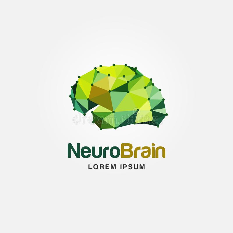 Modern Colorful Brain Logo Design vector illustration