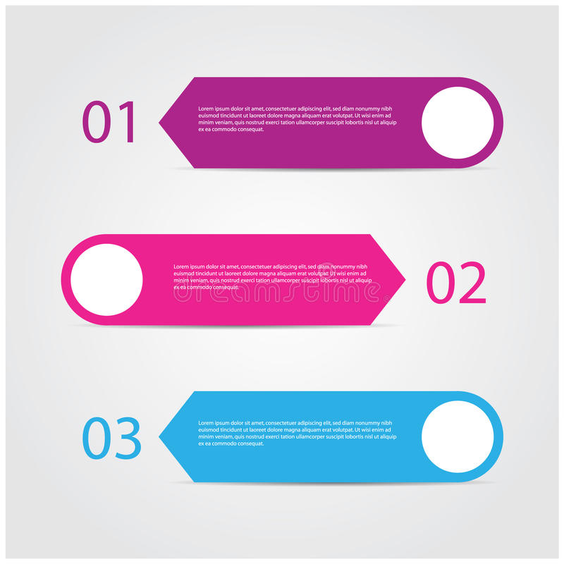 Modern colorful design template. Modern colorful design template / numbered banners for advertising and tutorial, EPS10 Vector royalty free illustration