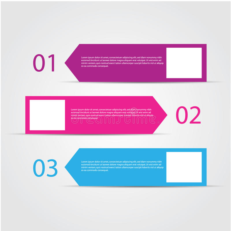 Modern colorful design template. Modern colorful design template / numbered banners for advertising and tutorial, EPS10 Vector stock illustration