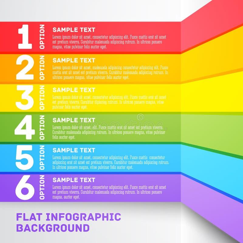 Modern colorful flat designed option template. For stock illustration