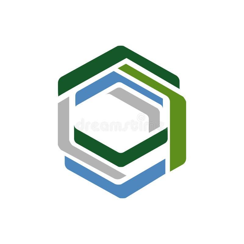 modern colorful geometric hexagonal logo design icon vector element royalty free illustration