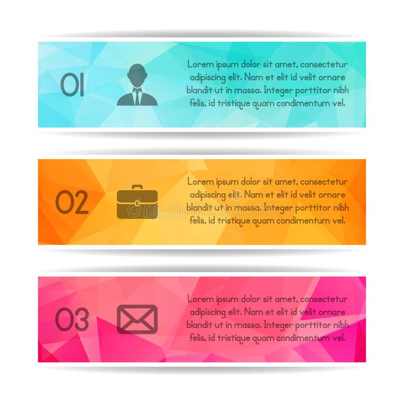 Modern colorful triangular style Business Infographics. Vector i royalty free illustration