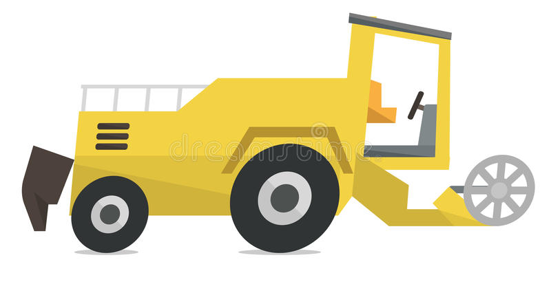 Modern combine harvester vector illustration. royalty free illustration