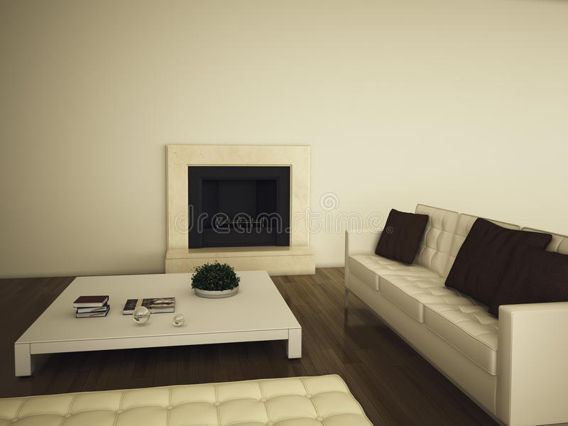 Modern comfortabel binnenland royalty-vrije illustratie