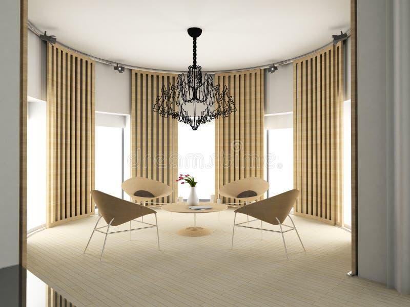 Modern comfortabel binnenland vector illustratie