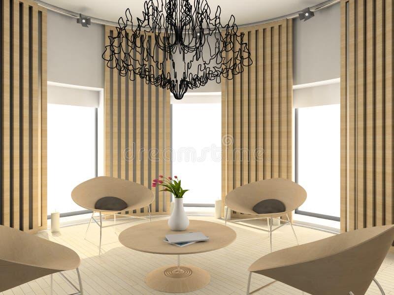 Modern comfortabel binnenland stock afbeelding