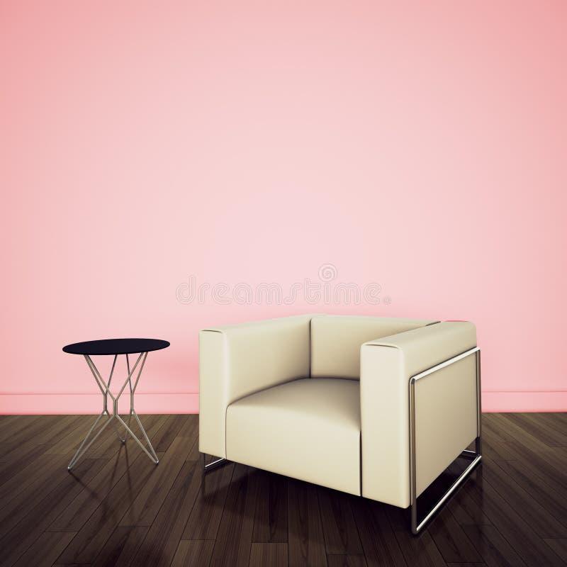 Modern comfortabel binnenland met het 3d teruggeven stock foto