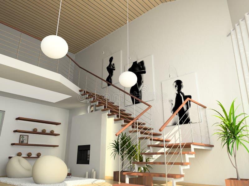 Modern comfortable interior royalty free illustration