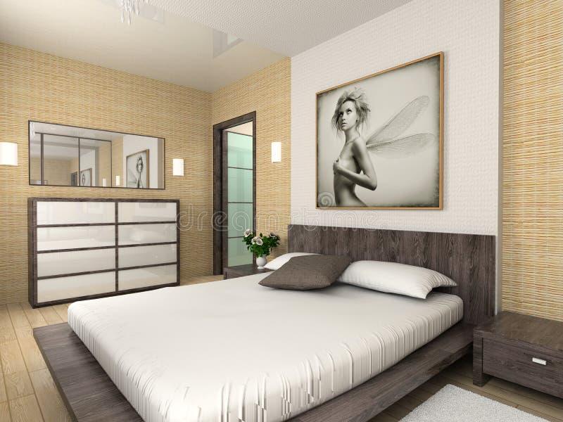 Modern comfortable interior stock photography