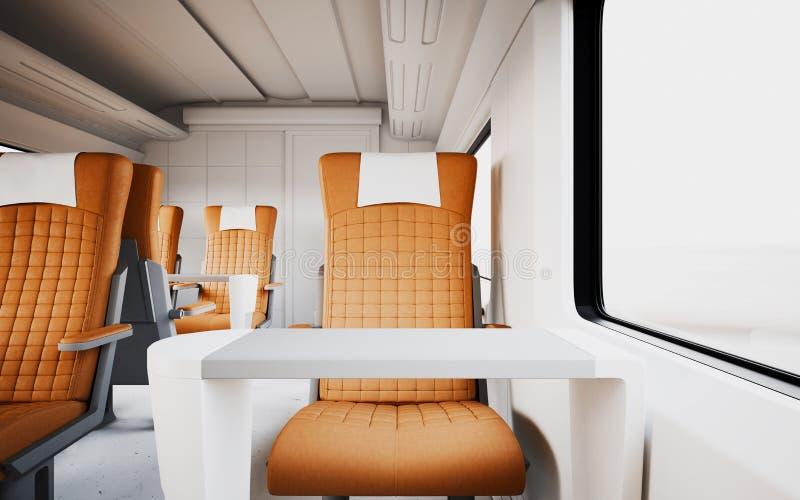 firstclass modern armchair. Download Modern Comfortable Leather Armchair Inside First Class Cabin Fast  Speed Train Empty White Window