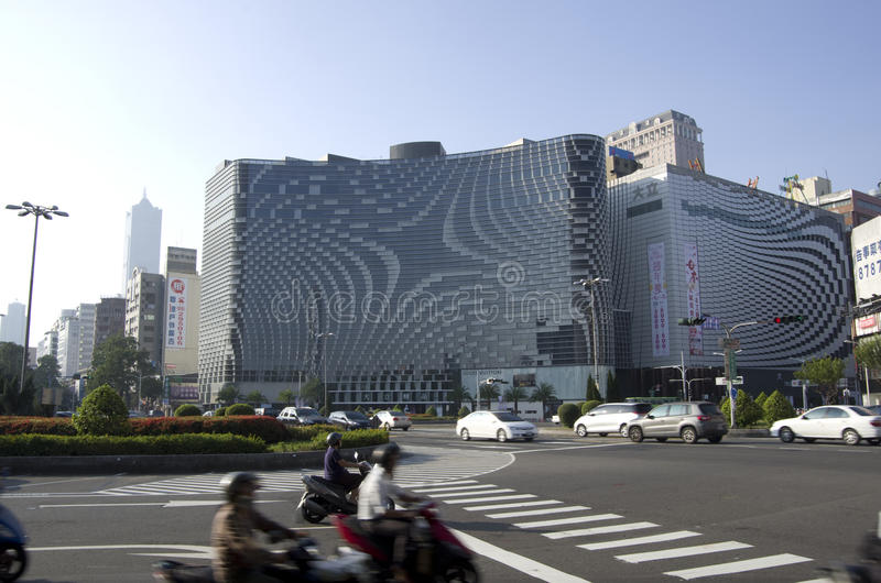 Modern commercial buildings Kaohsiung stock images