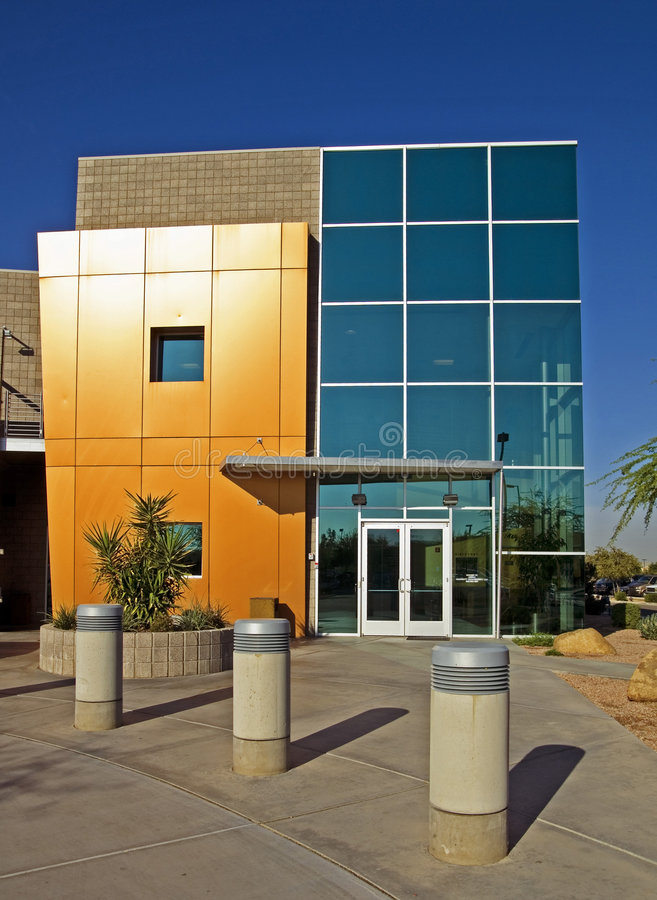 Modern commercial facility stock photo